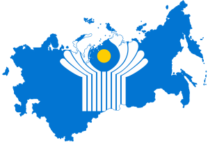 Flag map of the Commonwealth of Independent States